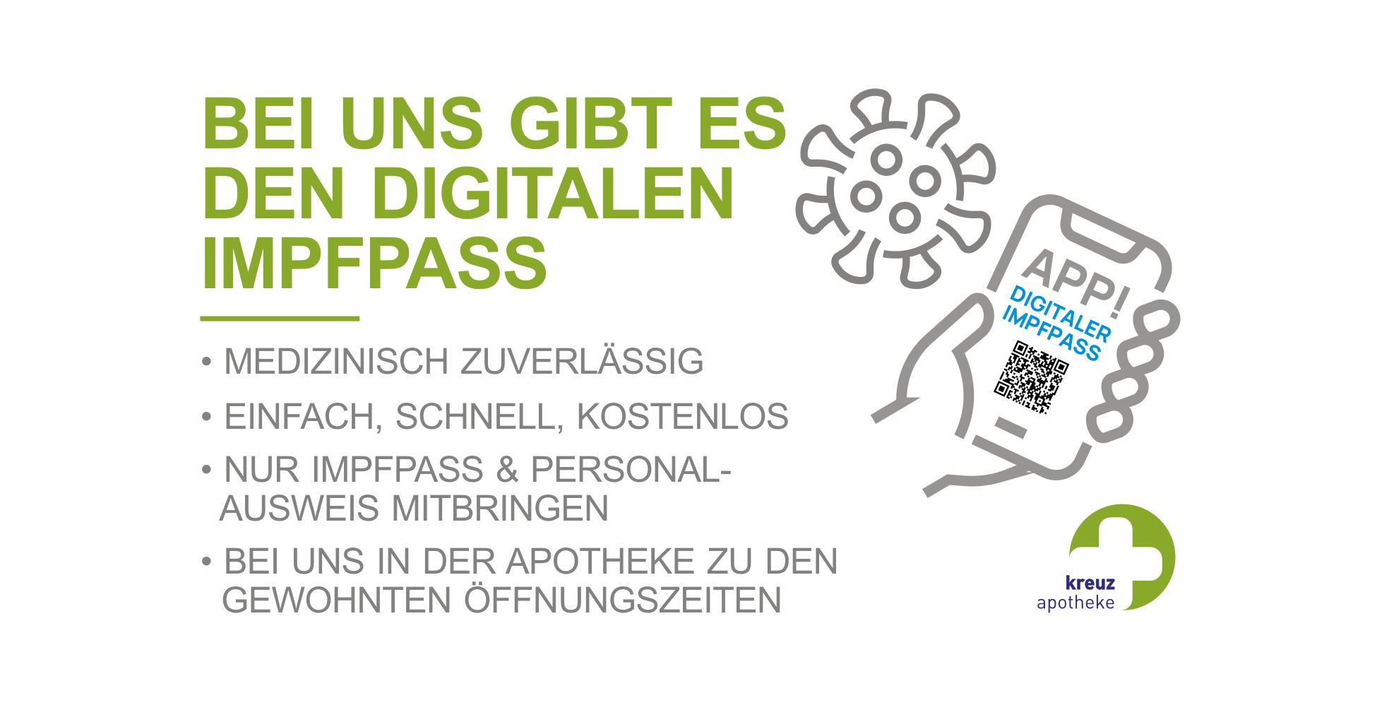 Kreuz Apotheke Digitaler Impfpass Ab 14 06 21 Kreuz Apotheke Mengen De